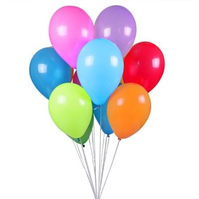 11 разноцветных шариков