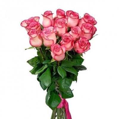 №2 Букет из 15 розовых роз