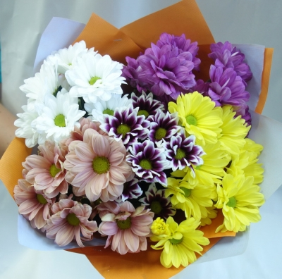 №5 Букет 5 кустовых хризантем