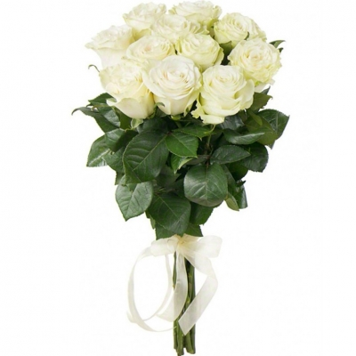 №7 Букет 11 белых роз