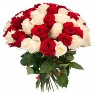 №6 Букет 51 красная и белая роза