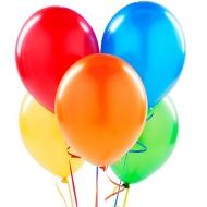 5 разноцветных гелиевых шаров