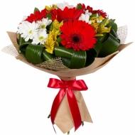Букет герберы, хризантемы