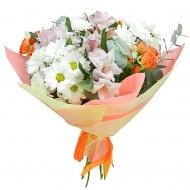 Букет хризантемы, розы, альстромерии