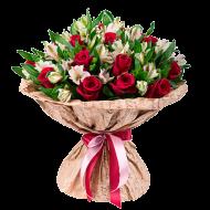 Букет альстромерии и розы