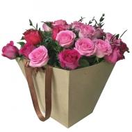 25 роз в плайм-пакете