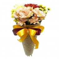 Хризантемы в крафт-пакете